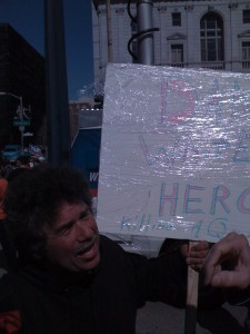 "Sign reads ""Dan White Hero for killing Queers"""